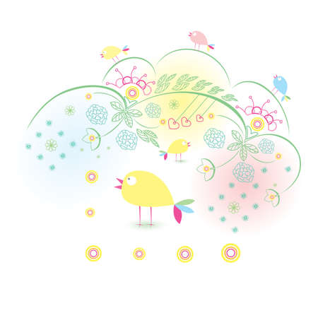 Abstract Nature background on white for design  Vector