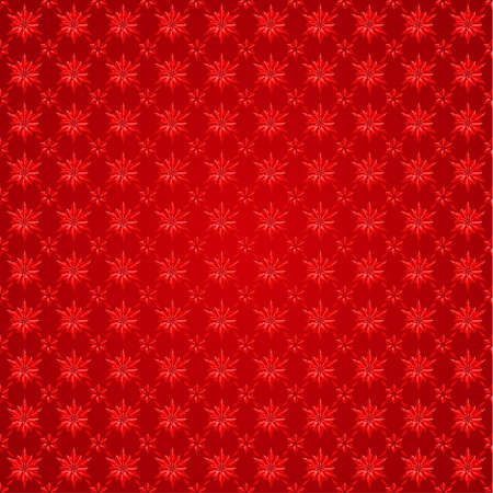 red background: Snowflakes on red background. Winter seamless pattern  Illustration