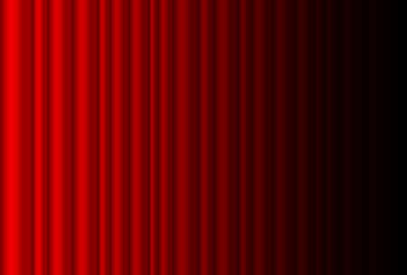 shiny black: Fragment dark red stage curtain. Illustration of the designer