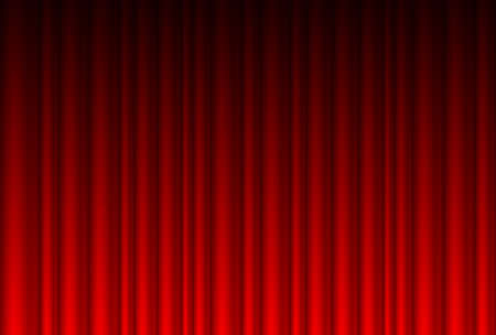 Realistic red curtain. Illustration for design Vector