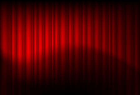 Red drapes reflected. Illustration of the designer Stock Vector - 11348803