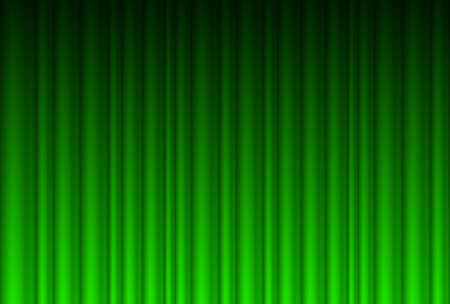 theater audience: Realistic green curtain. Illustration for design