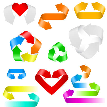 Color arrows. Set of icons on white background Stock Vector - 11582931