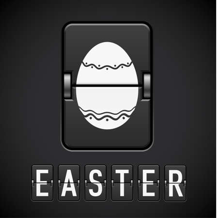 Scoreboard Easter. Illustration for design on black background Stock Vector - 11909611