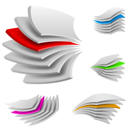 Curved Multi layers. Illustration of the designer on a white background Vector