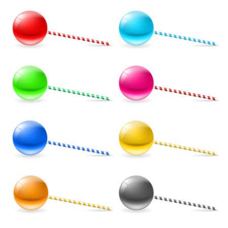 lollypop: Set of lollipops. Illustration on white background for design