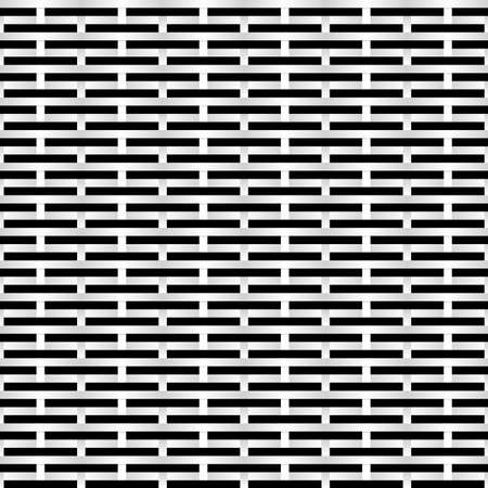 metal mesh: Black and white Grid. Abstract Illustration for design