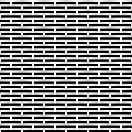 lamiera metallica: Nero e bianco griglia. Abstract Illustrazione per la progettazione Vettoriali