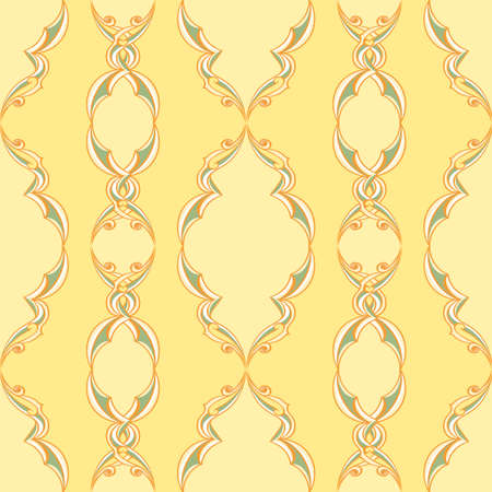 Vintage Pattern. illustration on yellow background for design Vector