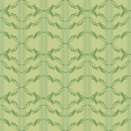 Vintage Pattern. Illustration on green background for design Vector