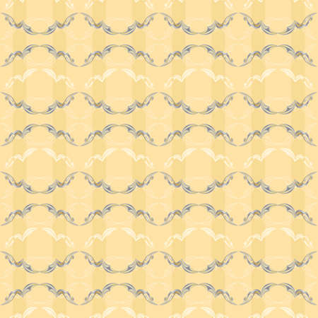 Vintage Pattern number two. Illustration on yellow background for design Stock Vector - 12349616