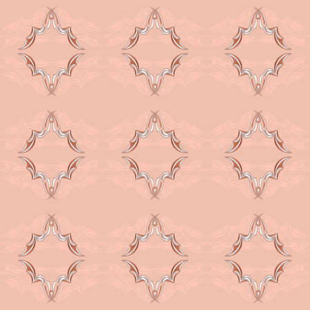 Vintage Pattern. illustration on pink background for design Vector