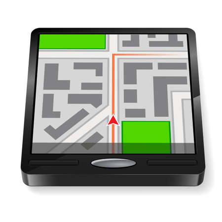 gps device: GPS Navigator. Without Text. Illustration on white background for design