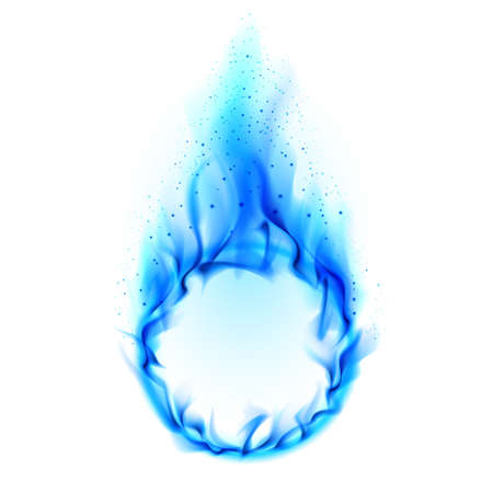 blue flame: Blue ring of Fire. Illustration on white background for design