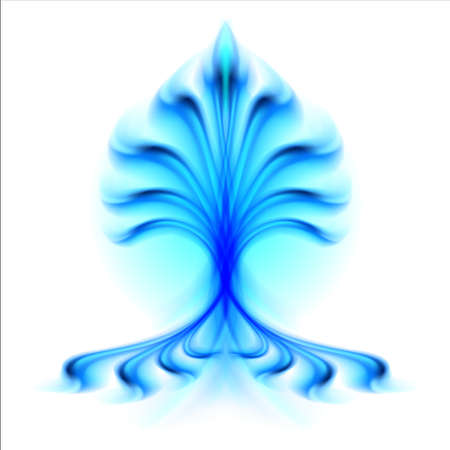 Fire flower. Illustration isolated over white background illustration