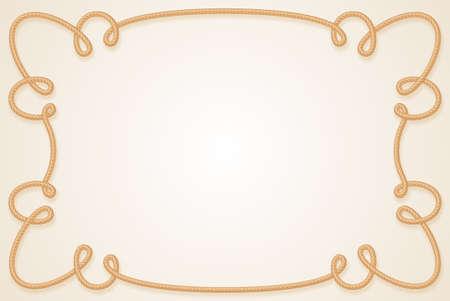 rope border: Frame Made of Rope. Cartoon illustration for design Illustration