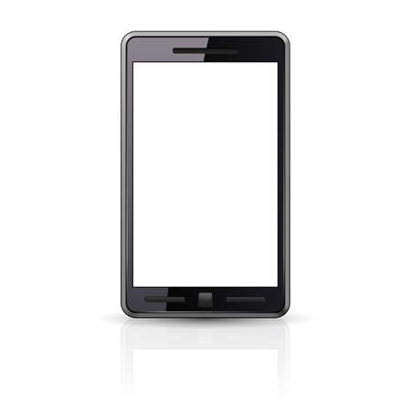 Black Smart-phone isolated on white background Stock Vector - 12490991