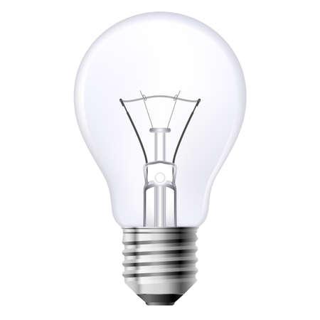 filaments: Filament lamp on a white background. Illustration for design Illustration