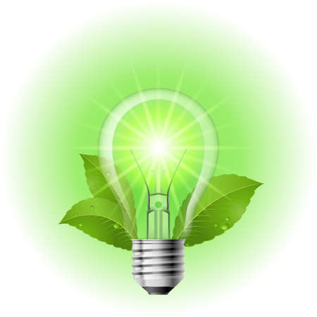 Energy saving lamp. Illustration on white background for design Vector