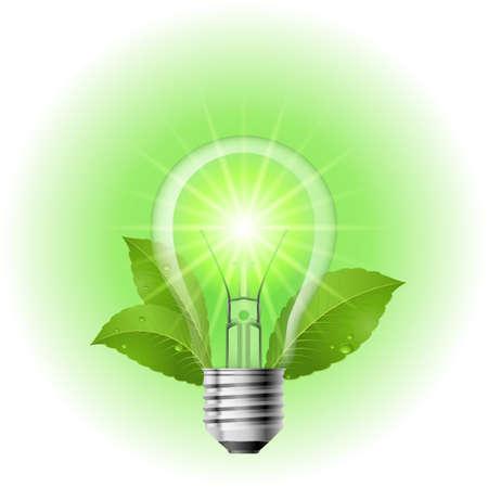 Energy saving lamp. Illustration on white background for design Vector