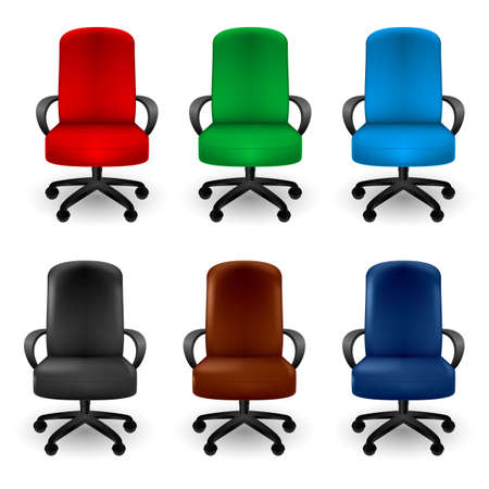 empty chair: Set of Office Armchairs. Illustration on white background