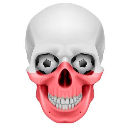 Human Skull with Soccer balls for eyes. Illustration on white background Stock Vector - 13374046