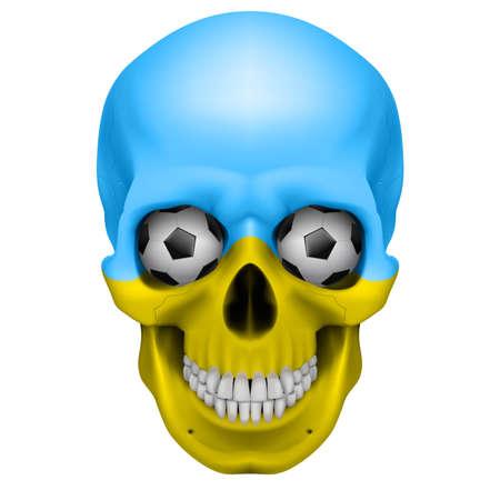 Human Skull with Soccer balls for eyes. Illustration on white background for design Stock Vector - 13374045