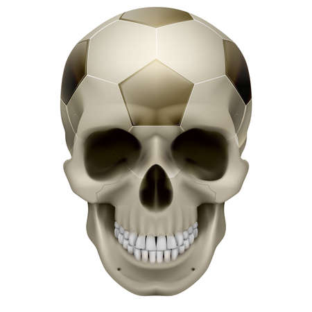 Human Skull. Football design. Illustration on white background Vector