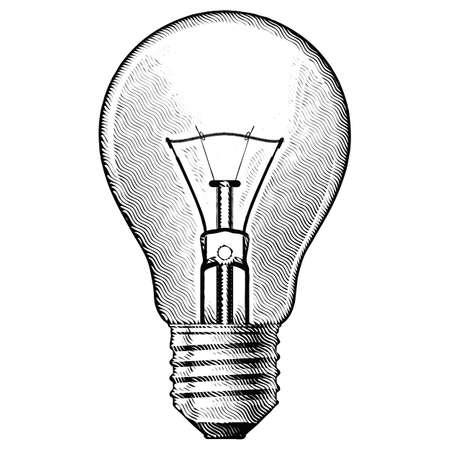 creative shot: Figure bulbs. Illustration on white background.
