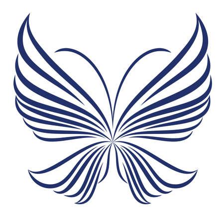 decor graphic: farfalla astratto illustrazione di icona semplicemente farfalla Vettoriali