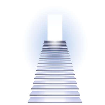 천국: 성공의 사다리입니다. 흰색 배경에 그림입니다.