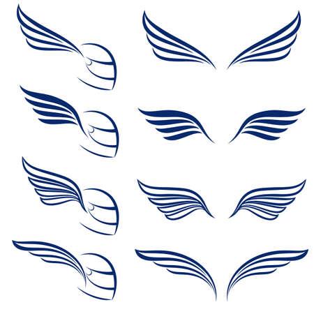 pisada: Elementos de alas de carreras de dise�o. Ilustraci�n sobre fondo blanco. Vectores