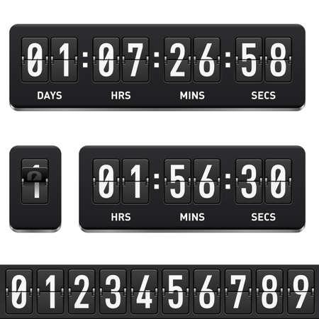 Countdown timer. Illustratie op witte achtergrond voor ontwerp