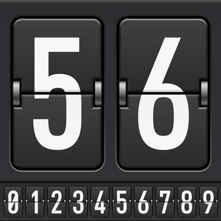 I numeri da Alphabet Scoreboard meccanica. Illustrazione per la progettazione