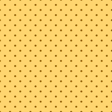 Perforated yellow leather. Abstract background for design, texture Vector