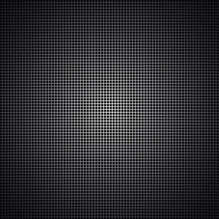 Perforated Black Leather. Abstract background for design, texture Vector
