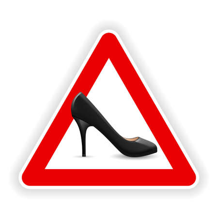 Sign of womens shoes. Illustration on white background  Vector