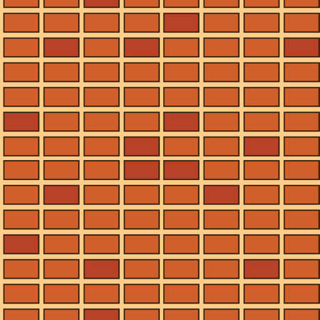 Seamless texture of abstract brown bricks. Illustration of designer Stock Vector - 13858292