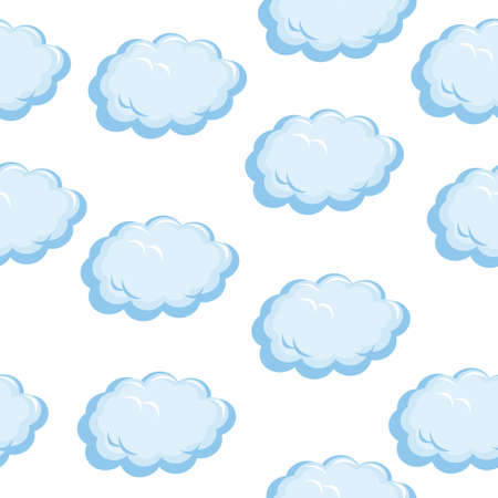 Seamless texture of the clouds. Illustration on white background Stock Vector - 13858294