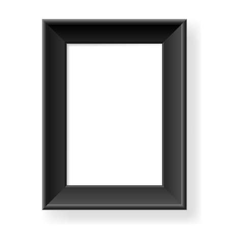 Realistic black frame. Form of the number two. Illustration on white background Vector