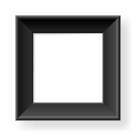 Realistic black frame. Form of the number one. Illustration on white background Stock Vector - 13877732