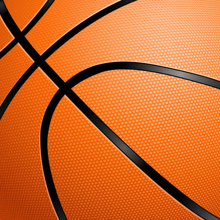 floor ball: Orange Basketball close up illustration for design