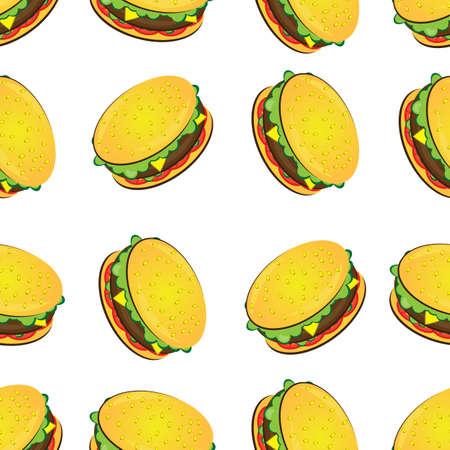 huevos fritos: La textura perfecta de la hamburguesa. Ilustración del diseñador sobre un fondo blanco