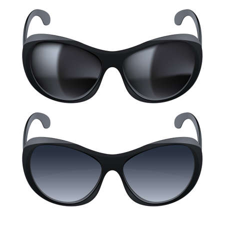 Realistic sunglasses. Set of two. The illustration on white background Vector