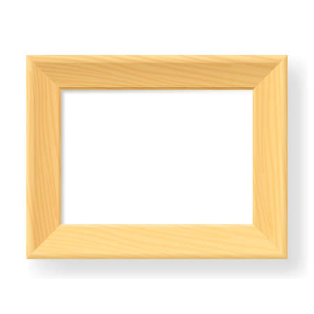 Realistic wooden frame. The form number three. Illustration on white background Stock Vector - 13958765
