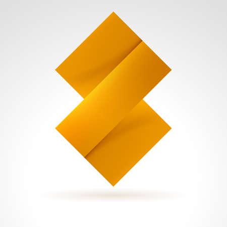 Abstract Orange Tile. Illustration on white for design Vector