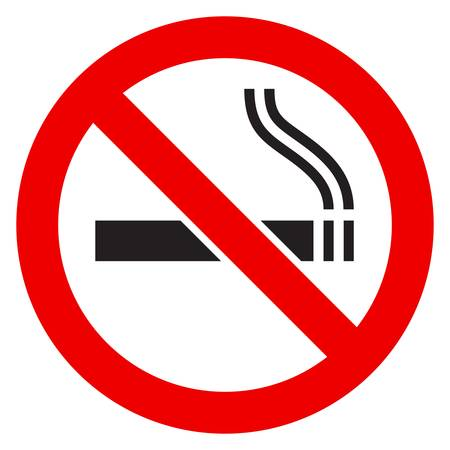 smoking a cigar: The simple sign No Smoking. Illustration on white background