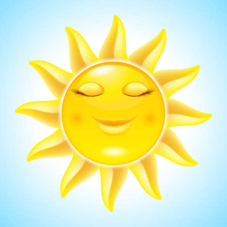 Cartoon Sun on Holiday. Illustration for design Stock Vector - 13979488