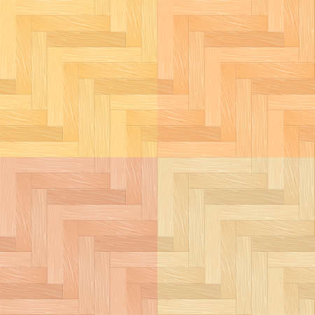 Color Set of Parquet Seamless Pattern. Illustration for You design Vector