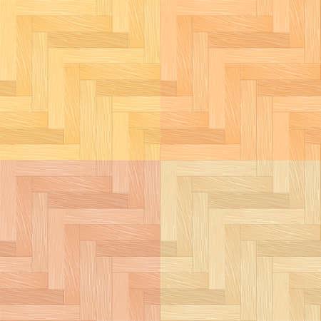 parquet texture: Color Set of Parquet Seamless Pattern. Illustration for You design